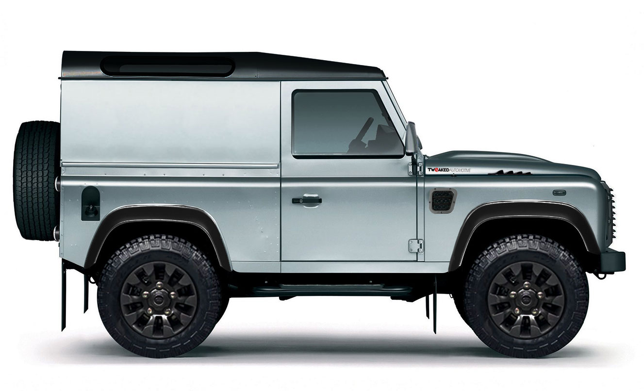 land rover defender 90 xs hard top tweaked edition tweaked automotive. Black Bedroom Furniture Sets. Home Design Ideas